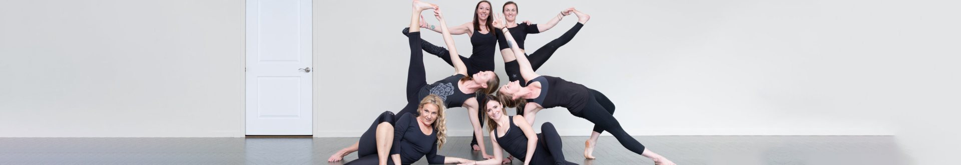 People doing yoga