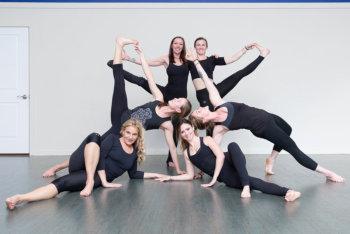 women doing yoga poses